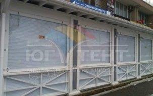 Мягкие окна для летней площадки ресторана Cafè Bacca Rossa